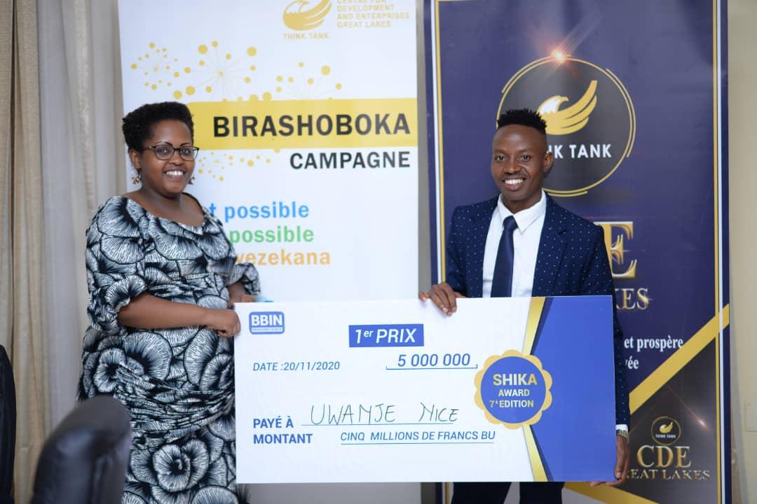 Semaine de l'entrepreneuriat : « Quand Birashoboka » marque le Shika Award 2020